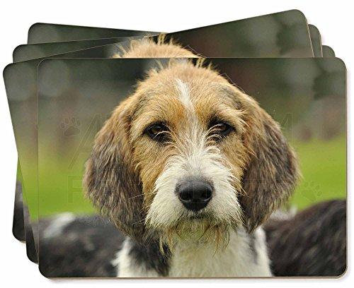 Advanta - Place Mats Welsh Fox -Terrier-Hund Bild Tischsets in Geschenkbox Weihnachten Tisch Geschenk -