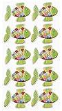 10 GRÜN farbenfrohe Aufkleber bzw. Sticker FISCH Regenbogenfisch regenbogenfarben zum Basteln Dekorieren Schmücken zur Taufe Kommunion Firmung Geburtstag bunt 3,5 cm