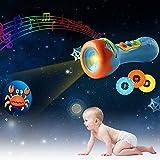 Waroomss Story Taschenlampe Spielzeug mit Musik Sound 32 Muster und 4 Szenen Story Projection Torch für Frühe pädagogische Kleinkind Kids