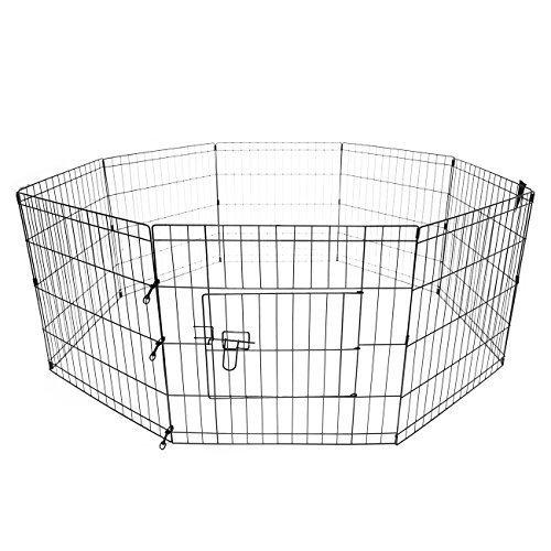 Iglobalbuy verstellbar Hundekäfig,faltbar Haustier Zwinger Transportkäfig für Hunde Katze (24 Zoll)