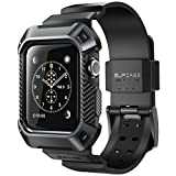 SUPCASE Apple Watch 3 Armband, [Unicorn Beetle Pro] Schutzhülle Robuster Schutzkappe Kratzfest Hülle Case für Apple Watch Serie 3 2017, 42mm [Kompatibel mit Apple Watch 42mm 2015 2016] (Schwarz)