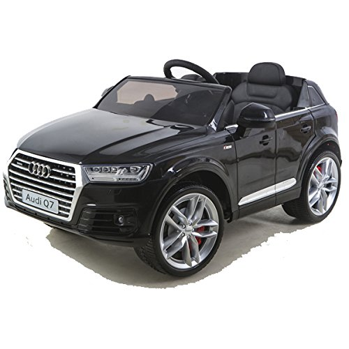 #simron Audi Q7 Quattro SUV Elektro Kinderauto Kinderfahrzeug Ride-On 12V Kinder Elektroauto schwarz#