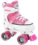 HUDORA Mädchen Rollschuhe Roller Skate, pink, verstellbar, 22033