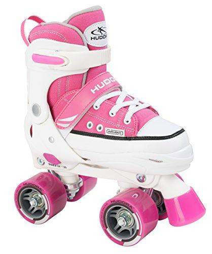 HUDORA Mädchen Rollschuhe Roller Skate, pink, verstellbar Gr. 28-31, pink, 28-31, 22033