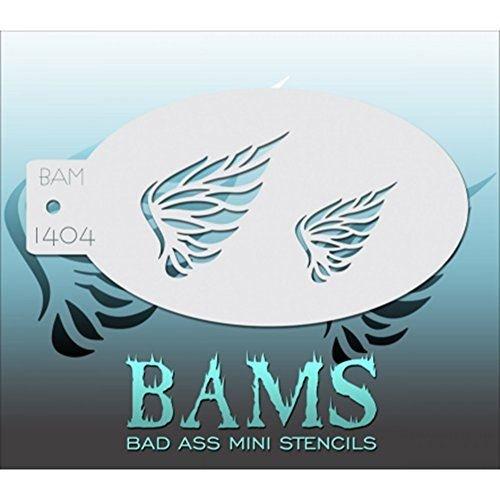 Bad Ass Stencils ailes plumes mini-pochoir