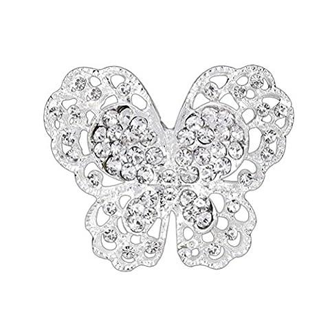 SANWOOD® Crystal Butterfly Wedding Bridal Brooch broaches Pin breastpin