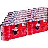 TopShot Lot de 12 appareils photo jetables Roses pour 27 photos avec flash
