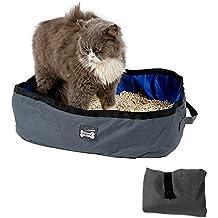 Arenero plegable y portátil para gatos de Petneces, resistente al agua, para viajes,