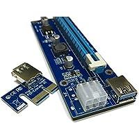 dkey Kit Mining Rig GPU–Fuente de alimentación HP dps-1200fb a–Pico PSU 250W–Breakout Board con 10cables–Riser v006-c RISER V006-C