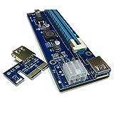 DKEY Riser USB v006-C Ver. MOLEX 6PIN e SATA - PCI-e 1 x auf 16 x Verlängerungskabel USB 3.0 Für Mining Rig Bitcoin und andere V006-C 6PIN