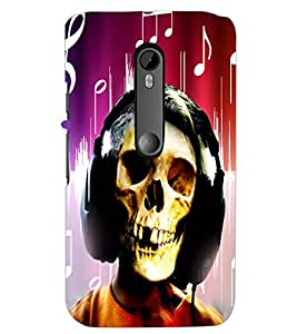 PrintDhaba Skull D-2958 Back Case Cover for MOTOROLA MOTO G3 (Multi-Coloured)