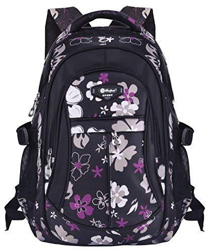 Schulrucksack, Coofit Kinderrucksack Daypack Schultasche Grundschule Backpack Schulranzen für Mädchen Jungen Teenager Jugendliche (Schwarz)