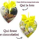 Cuore personalizzato con foto cioccolatini frase Idea Regalo per la Festa della Donna 8 Marzo
