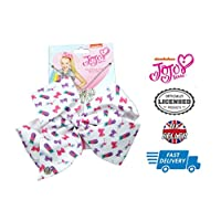 BK Distribution Online Officially Licensed Nickelodeon JoJo Siwa White Tropical Bow & Necklace Set