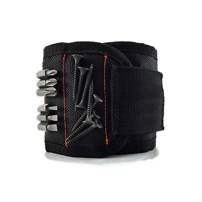 Qhui Magnetische Armbänder mit 10 kraftvollen Magneten, Herren Magnetarmband Werkzeug zum Halten von Werkzeug, Schrauben…