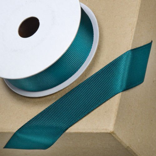 Club Green Ruban Gros Grain, Bleu Sarcelle, 25 mm x 10 m
