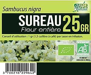 Tisane Sureau Fleur Bio (Sambucus nigra) - 25 gr