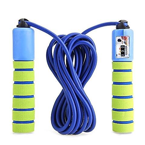 Balala Springseil Speed Rope mit Zähler und Komfortablen Griffen für