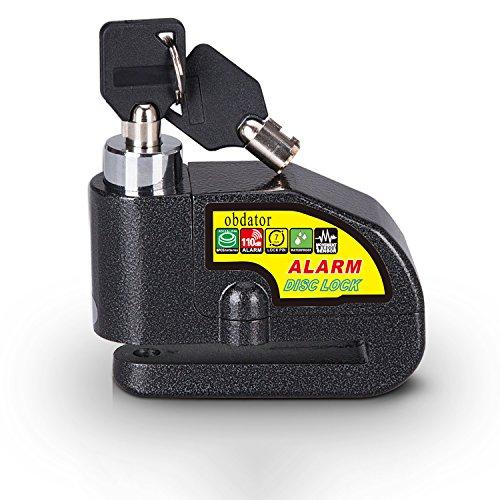 Alarmanlage OBDATOR Diebstahlsicherung Motorrad Alarm, Schloss, 110 dB, akustischer Alarm und 7 mm Pin für Motorräder, Fahrräder und Roller