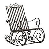 Smilla Hochwertiger Gemütlicher Schaukelstuhl | Bronze-Farben | Metall | Handarbeit