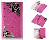 ZeWoo PU Leder Brieftasche - XT004 / (5#) Schwarze Rose