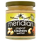 Meridian 100% Crunchy Cashew Butter 170 g (order 6 for trade outer)