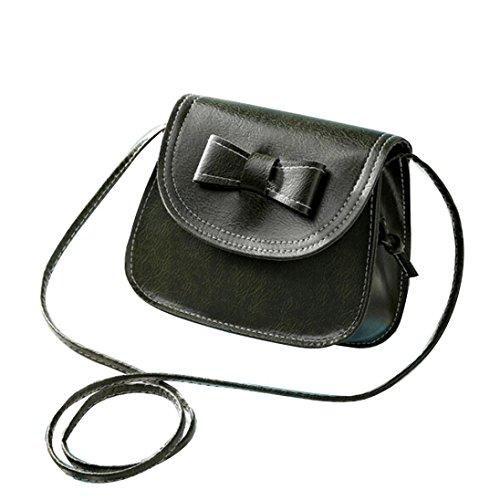 Borsa a tracolla Clode® Donne Bowknot Moda Borsetta di Pelle Singola Spalla Messenger Bag Phone (Colour : Verde)