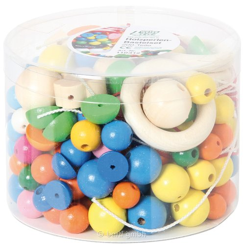 Weiss Natur Pur Weiss Natur PurB110312 Wood Bead Kit (200 Parts)