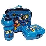 GRENADINE Sac Isotherme Mickey avec boîte à goûter et Gourde Mickey - Gourde Sport de 350 ML et Une Boite à goûter de Dimensions 16.5 x 14 x 6.5 cm