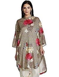 AL - Indian Luxury Women's Chiffon Straight Kurta