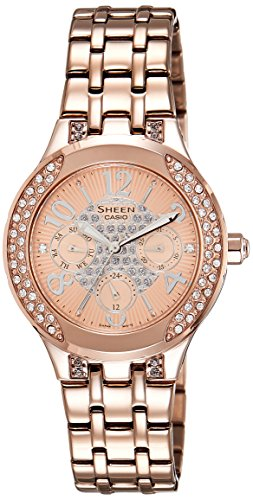 Casio (SHE-3803PG-9AUDR|SHE-380) Sheen Analog Multi-Color Dial Women's Analog Watch image