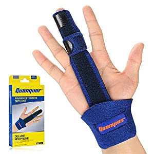 Finger Extension Splint for Trigger Finger, Mallet Finger?Finger Knuckle Immobilization, Finger Fractures, Wounds, Post-operative Care and Pain Relief- Malleable Metallic hand splint finger support