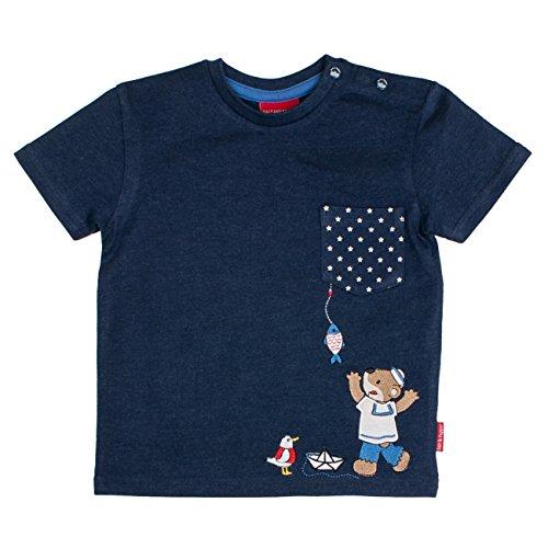 SALT AND PEPPER Baby-Jungen T-Shirt B Pirat Uni Print, Blau (Ink Blue Melange 481) ()