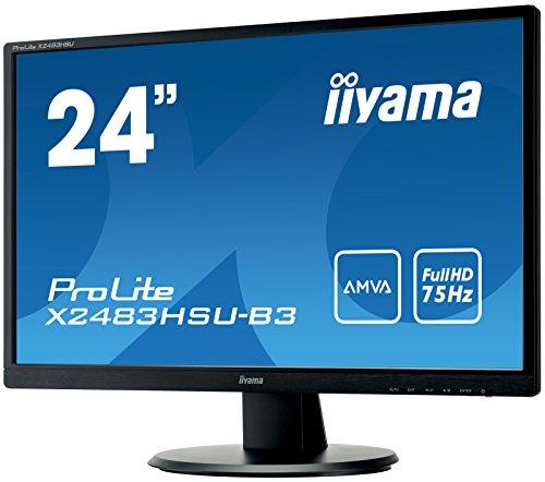 iiyama X2483HSU-B3 24-Inch ProLite AMVA HD LED Monitor with USB - Black