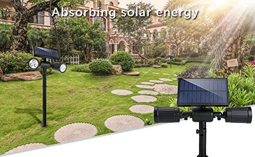 Luci Da Esterno Giardino Solari : Lampade solari a led da esterno lm illuminazione giardino