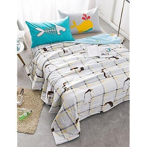 YangR* Estate Fresca aria condizionata cotone Estate Quilt Quilt Set biancheria da letto , Letti