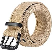 JIER Liquidación Cinturón de Piel con Tachuelas y Doble Agujero para Mujer y Hombre, tamaños y Anchos