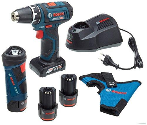 Bosch 0615990J12-Taladro atornillador con batería (PE GSR 12V, 3x 2Ah y 1x 4Ah, 1pieza)