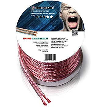 Oehlbach Speaker Wire SP-40 - Stereo HI-FI Lautsprecherkabel - Boxenkabel on