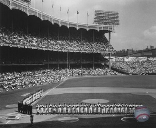Yankee Stadium Left Field - 1955 World Series Eröffnungsspiel Photo Print (25,40 x 20,32 cm)