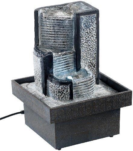 """infactory Zimmerbrunnen \""""Felsenquelle\"""" mit Pumpe und LED"""