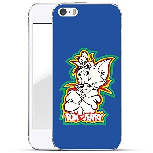 finoo | iPhone 7 Plus Hard Case Handy-Hülle Tom & Jerry Motiv | dünne stoßfeste Schutz-Cover Tasche mit lizensiertem Muster | Premium Case für Dein Smartphone| Jerry Happy Color blau
