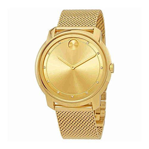 Movado Bold oro Sunray Dial Unisex Reloj 3600460