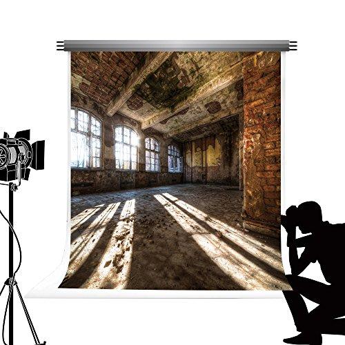 Kate Shabby Innen Fotografien Hintergrund Abandoned Factory Hintergründe für die Fotografie Studio Fotos Requisiten klappbar Reinigungstuch 10 x 10ft/3 x 3 m