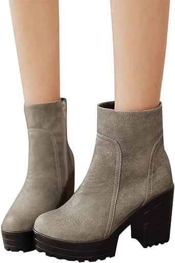 TianWlio Frauen Herbst Winter Stiefel Schuhe Stiefeletten EDFwc