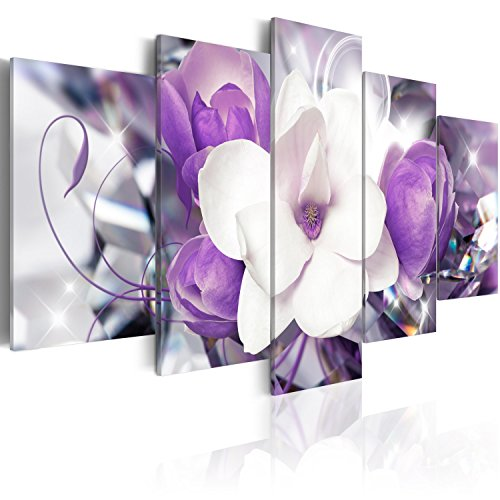 murando - Cuadro en Lienzo 200x100 cm - Flores - Impresion en calidad fotografica - Cuadro en lienzo tejido-no tejido - b-A-0299-b-n