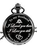 Best Gifts For Men Under 30s - Quartz Pocket Watch to Husband Gift, Anniversary Gift Review