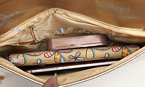 Mit einer Diamanttasche, Umschlag Tasche, Diamant Griff Tasche, klassische Temperament Abendessen Hand Tasche, Schulter schrägen Rucksack ( Farbe : Silber ) Schwarz