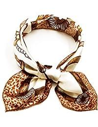 """Sourcingmap–® mujeres impreso, forma cuadrada pañuelo 20""""contraste Color Casual cuello"""