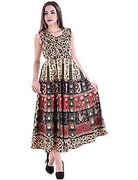 Fashion Store Women's Cotton Casual Multi-Colored Dress(Free Size) - B0789DX8R4